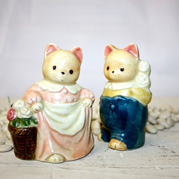 Cute Cat Couple - Figurines