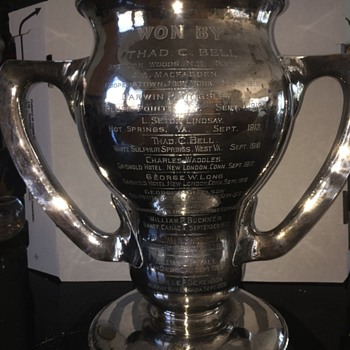 Sterling Silve Trophy Golf - Sterling Silver