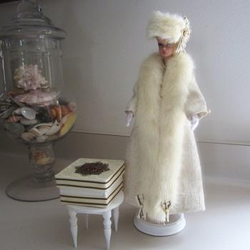 Handmade Vintage Barbie Fashion Coat & Mink by Kim