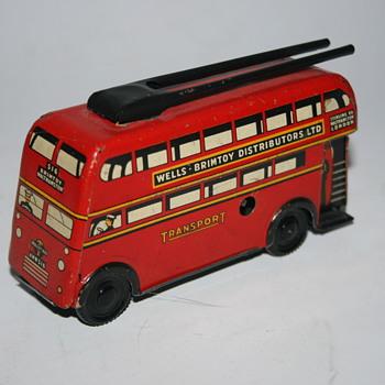 Wells Brimtoy london tin bus