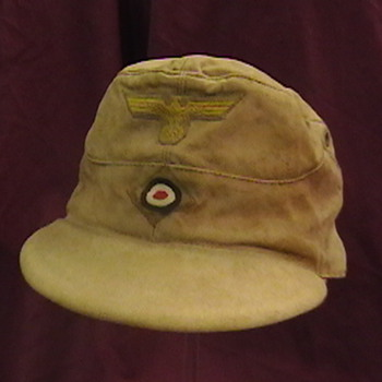 WW II German Kriegsmarine Tropical Visored Field Cap - Military and Wartime