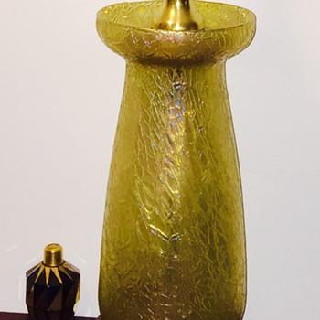 "Loetz Candia Mimosa Vase Lamp 11.5"" PN II-5870, ca 1908"