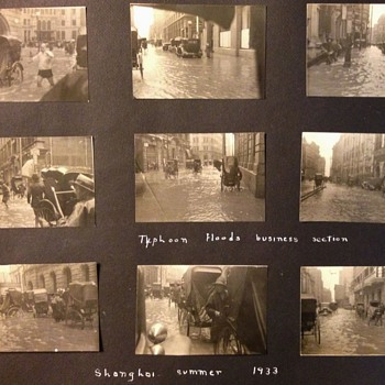 TYPHOON FLOOD OF SHANGHAI 1933 and HANG CHOW TRIP China  - Photographs