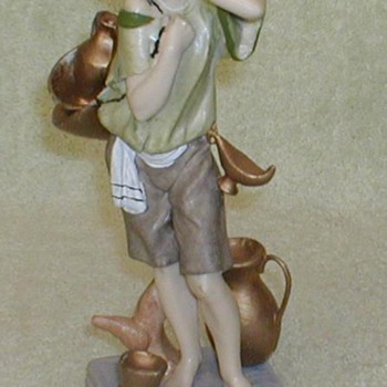 &quot;Grecian Urns Boy&quot; Figurine - Art Pottery