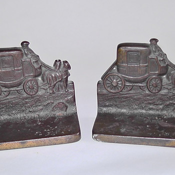 Bronze Bookends from England - Books