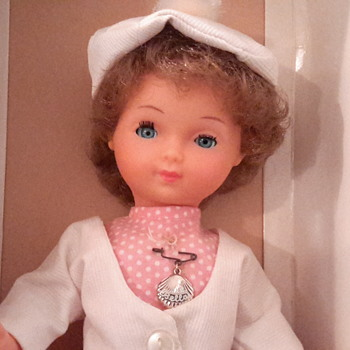 1961 French made Bella hard plastic&vinyl head doll
