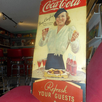 1934 Joan Crawford Coca-Cola cardboard display