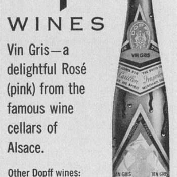 1950 Dopff Wines Advertisement - Advertising