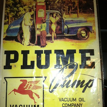 Plume Pump Advertizing Sign - Advertising