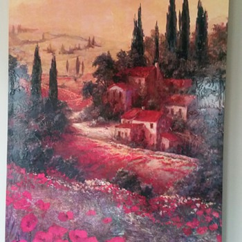 Oil on Canvas Painting -- Signed - Visual Art