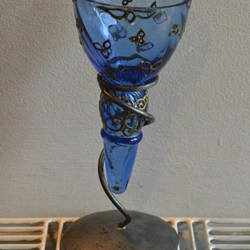 Can someone tell me something about my candlestick holder please ? - Art Glass