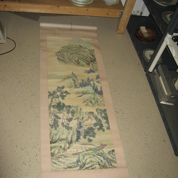 Old Japanese Wall Scroll - Asian
