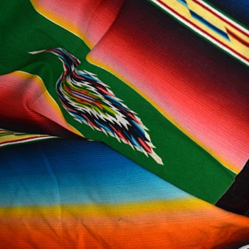 Saltillo / Serape from Mexico - 1940s/50s - Rugs and Textiles