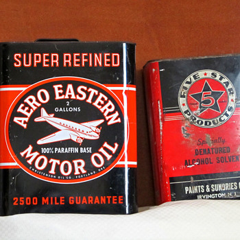 1920's Aero Eastern Motor Oil Can - Advertising