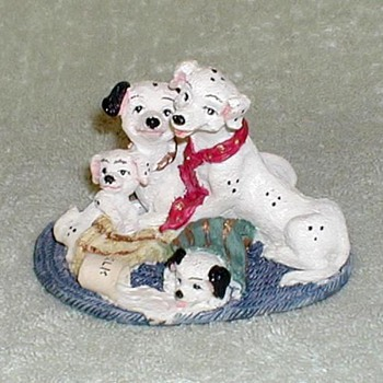 Dalmatians & Spilled Milk Figurine