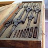 B & CO. TAP & DIE KIT WITH WOODEN BOX