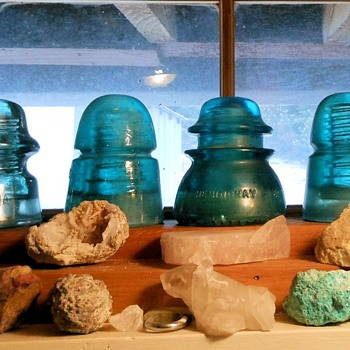 Vintage Glass Insulators Hemingray and Others - Tools and Hardware