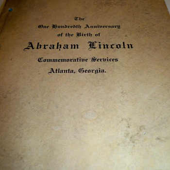 My new favorite book!!! 1909 100th anniversary of the birth of Abraham Lincoln