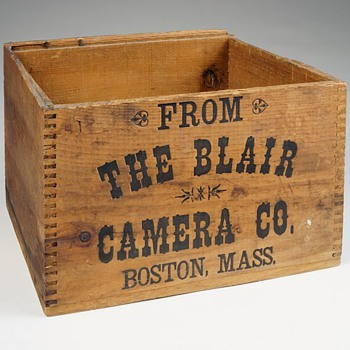 Blair Camera Company Wooden Shipping Box, c.1880s - 90s - Cameras