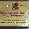 Black currant Pastilles tins.