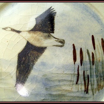 Unknown Plate and Mark - One Flying Duck - Art Pottery