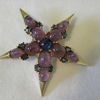 Marcel Boucher Star Brooch - Costume Jewelry