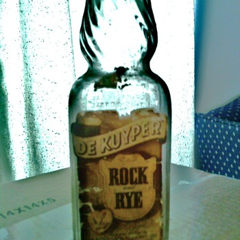 Old De Kuyper Rock &amp; Rye Whiskey Bottle - Bottles