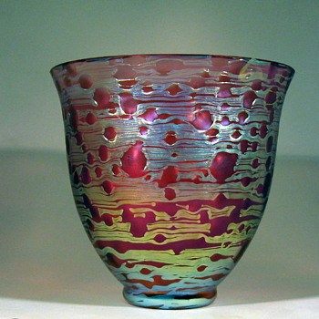 "Loetz pink ""New Wave"" Diaspora vase - Art Glass"