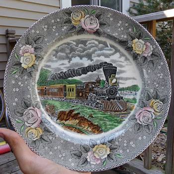 N. Currier, Train Plate - China and Dinnerware