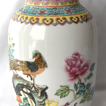 Mid 20th Export Famille Rose Chinese Vase
