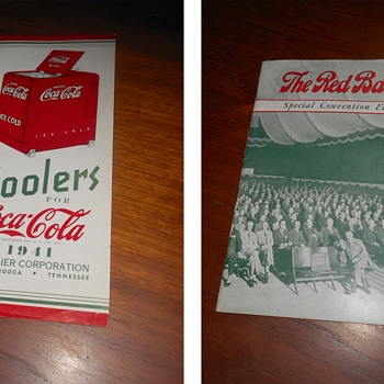 A few more early Coca-Cola paper items that are displayed on my shelves... - Coca-Cola