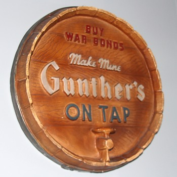 Gunther's Beer Placque