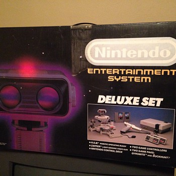 Nintendo Entertainment System and ROB Robot in box - Games