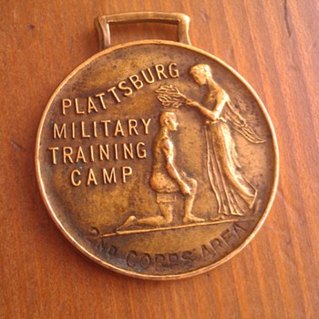 Antique 1925 Plattsburg Military Training Camp Relay Medal - Military and Wartime