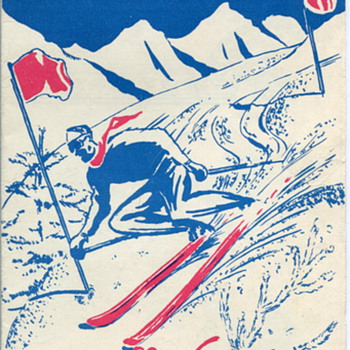 "USFA  Special Services ""Skiing in Austria"" Brochure - Military and Wartime"
