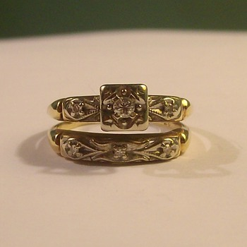 Vintage Wedding & Engagement Set (attached) - Fine Jewelry