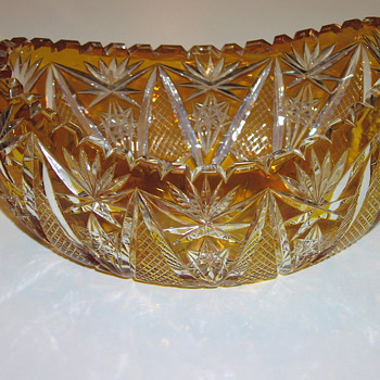 oval cut crystal bowl