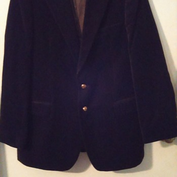 Velvet Jacket Made in Poland with Coat of Arms Buttons