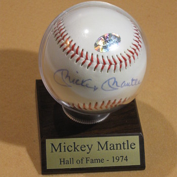 Mickey Mantle  .  .  .  Signed Baseball