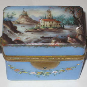 Glass Box French/German Opaline - Art Pottery