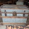 Zinc Covered 1860-1870's trunk - Very heavy - gorgeous simple metal