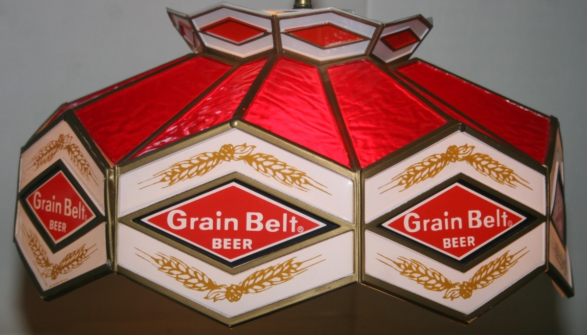 1976 Grain Belt Beer Tiffany Pool Table Light Collectors