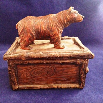 Ceramic Trinket Box with Bear - Animals