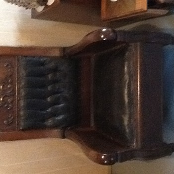 Wood and leather chair - Furniture
