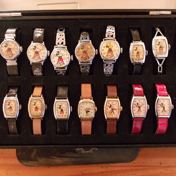Goodie Box of Ingersoll Mickey Mouse Wrist Watches - Wristwatches