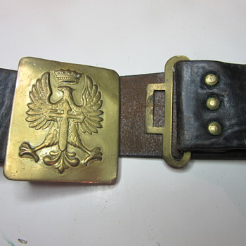 WW1 Polish or Russian Belt Buckle - Accessories