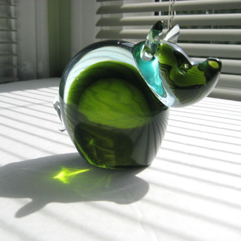 Sommerso  pig - Art Glass