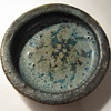 Blue Lava Glaze Small Low Bowl