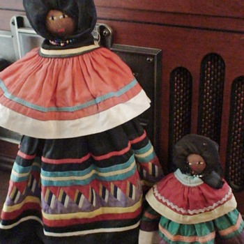Seminole Indian Palmetto Root Dolls circa 1950