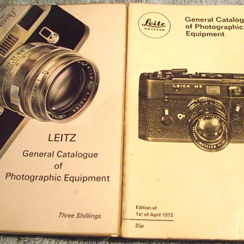 1967 and 1972-leitz leica catalogues. - Books
